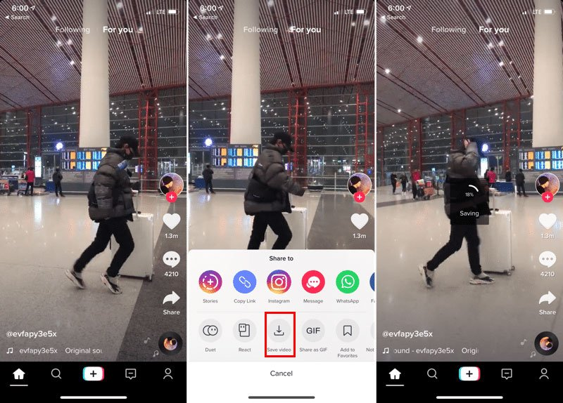 How to download Tik Tok videos free without watermark on iPhone?