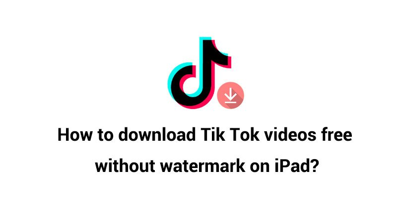 How to download Tik Tok videos  free without watermark on iPad?