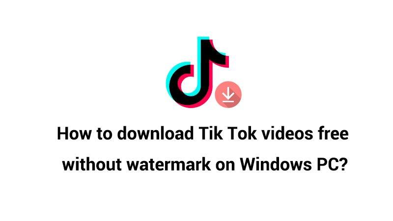 How to download Tik Tok videos on Windows PC?